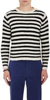 The Elder Statesman Men's Striped Cashmere Sweater