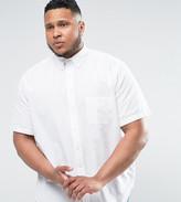 Polo Ralph Lauren Plus Seersucker Shirt Short Sleeve Slim Fit In White