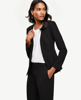 Ann Taylor All-Season Stretch Layered Collarless Jacket