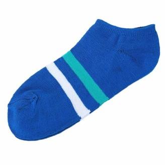 Tuduz Socks TUDUZ Sale 1 Pair Unisex Comfortable Stripe Cotton Sock Slippers Short Ankle Socks(Blue One Size)