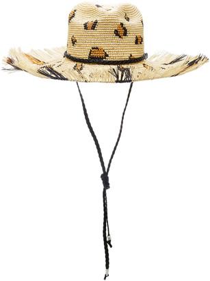 Sensi Leopard-Print Straw Hat