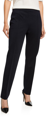 Loro Piana Skinny Wool-Jersey Crop Pants