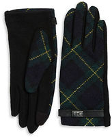 Lauren Ralph Lauren Wool-Blend Plaid Touch Gloves