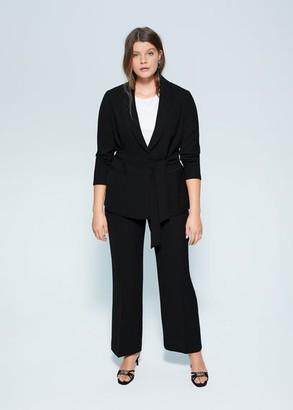 MANGO Violeta BY Structured suit blazer black - XXL - Plus sizes