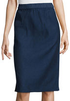 Liz Claiborne Slim-Fit Midi Skirt - Tall