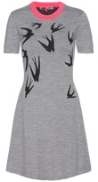 McQ by Alexander McQueen Printed Knitted Wool Dress