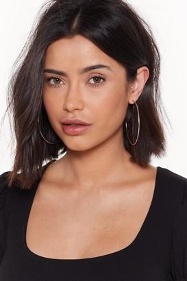 Nasty Gal Womens Fine Evening Hoop Earrings - Silver