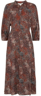 Whistles Abstract Animal Print Dress