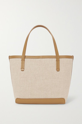 The Row Park Small Leather-trimmed Canvas Tote - Beige