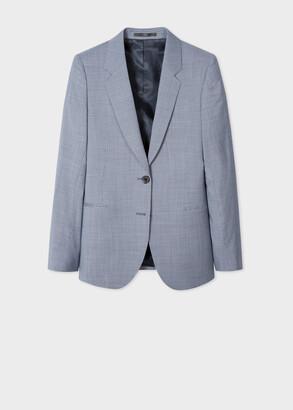 Paul Smith Women's Indigo Houndstooth Wool Two-Button Blazer