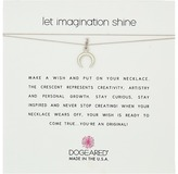 Dogeared Let Imagination Shine, Crescent Charm On Silk Thread, Necklace Necklace