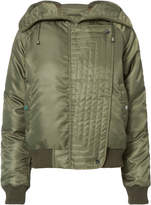Exclusive for Intermix Fiona Zip Detail Hooded Puffer
