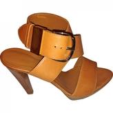 Balenciaga Beige Leather Sandals