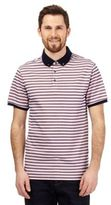 J By Jasper Conran Big And Tall Pink Textured Stripe Polo Shirt