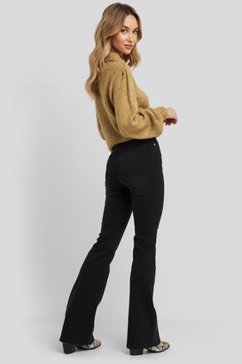 Trendyol High Waist Flare Jeans Black
