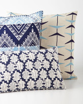 John Robshaw Blue Bayou Chevron Pillow