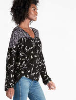 Lucky Brand Bouquet Mix Print Top