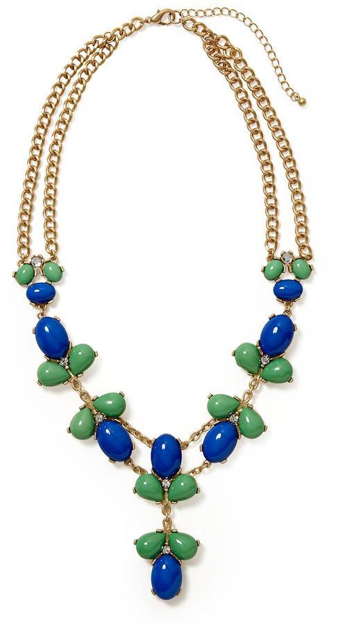 Pim + Larkin Blue Green Cabochon Necklace