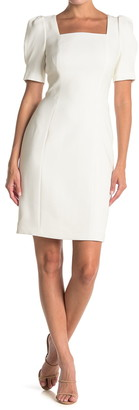 Elie Tahari Naciz Square Neck Sheath Dress