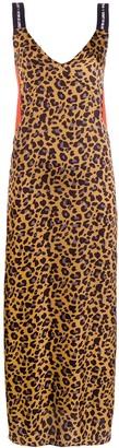 Marcelo Burlon County of Milan Leopard-Print Slip Dress