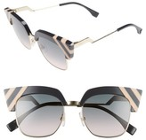 Fendi Women's 50Mm Cat Eye Sunglasses - Blue
