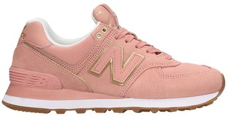 New Balance 574 Sneakers In Rose-pink Suede