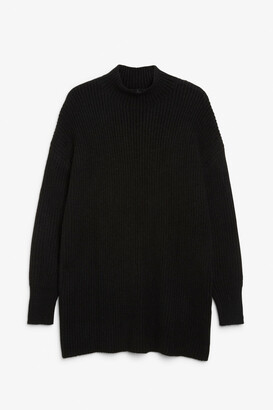 Monki Long chunky knit sweater