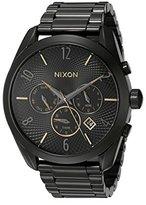 Nixon Women's A3661616 Bullet Chrono Analog Display Analog Quartz Black Watch