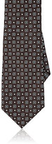 Barneys New York Men's Medallion & Dotted Silk Necktie-BROWN