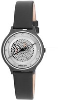 Johan Eric Women's JE1600-13-007 Orstead Black PVD Stainless Steel Silver Sunray Dial Swarovski Crystal Watch