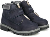 Armani Junior ankle boots with touch strap