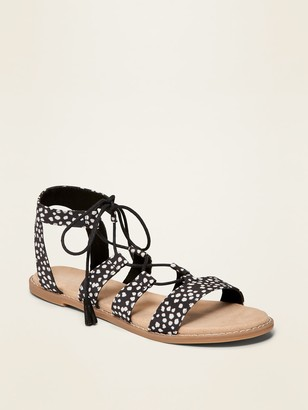 Old Navy Woven-Textile Gladiator Sandals for Women