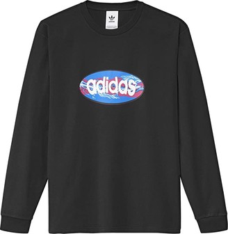 adidas Skateboarding Oval Tee (Black) Men's T Shirt
