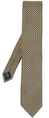 Ermenegildo Zegna Floral Patterned Silk Tie