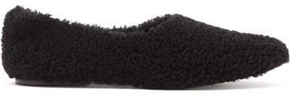 Fur Deluxe - Shearling Ballet Flats - Womens - Black