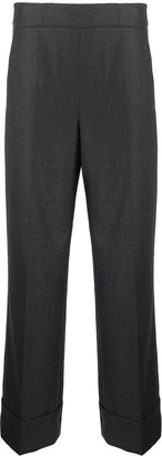 Incotex Pressed-Crease Wool Trousers