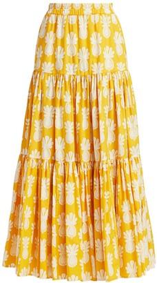 La DoubleJ Edition 20 Floral A-Line Maxi Skirt
