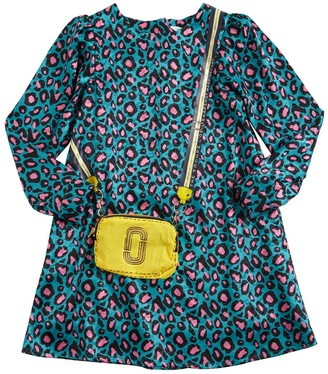 Little Marc Jacobs Leopard Print Satin Dress