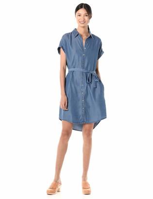 Goodthreads Amazon Brand Women's Tencel Short-Sleeve Shirt Dress