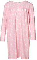 John Lewis Children's Floral Mouse Long Sleeved Night Dress, Pink