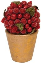 Caspari Red Berry Standing Topiary, Large