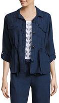 Liz Claiborne Linen Anorak Jacket