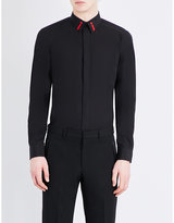 Givenchy Embroidered-collar Regular-fit Cotton Shirt