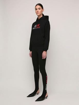 Balenciaga Gymwear Print Stretch Cotton Leggings