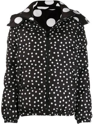 Dolce & Gabbana Reversible Polka Dot Puffer Jacket