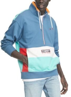Tommy Hilfiger Men's Travis Half-Zip Colorblock Sweatshirt