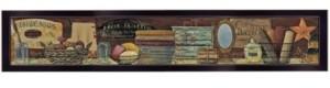 "Trendy Décor 4U Country Bath Shelf by Pam Britton, Ready to hang Framed Print, Black Frame, 38"" x 6"""