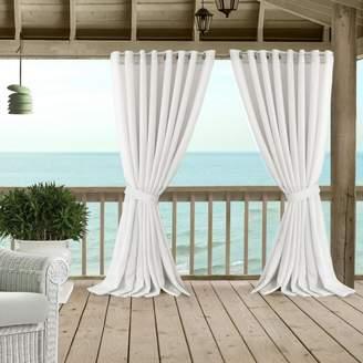 """Carmen Sheer Indoor/Outdoor Tieback Curtain Panel, 114"""" x 95"""""""