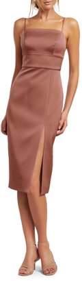 Ever New Bonded Satin Slip Dress