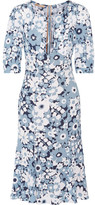 Michael Kors Floral-print Silk-georgette Dress - Sky blue
